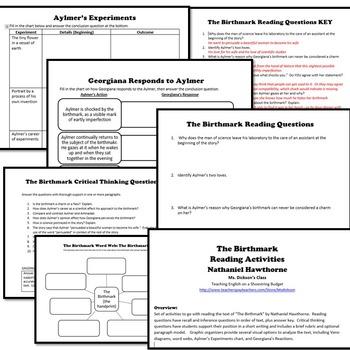 The Birthmark Reading Activities (Nathaniel Hawthorne)