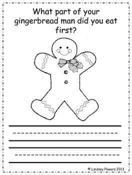 """The Bite"" Gingerbread Man Math & ELA Fun"