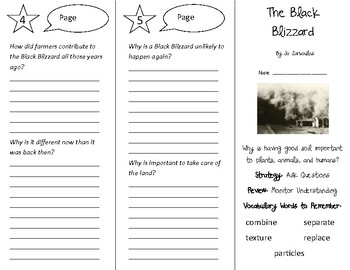 The Black Blizzard Trifold - 4th Grade Literacy by Design Theme 8