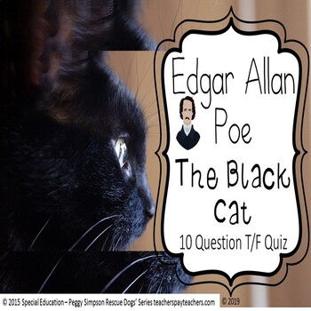 The Black Cat Edgar Allan Poe Quiz Special Education/Autism/ELD/SLD