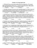 The Black Cat Mult Choice Quiz & KEY (25q)