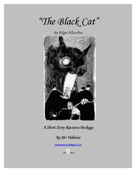 """""""The Black Cat"""" by Edgar Allan Poe - A 90 Paged Short Story Package"""