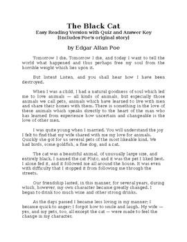 The Black Cat by Edgar Allan Poe - Easy Reading Version