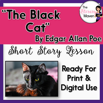 The Black Cat by Edgar Allan Poe with Adapted/Abridged Text - Print & Digital