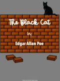 The Black Cat by Edgar Allan Poe - Adapted Story, Comp and Vocabulary Activities
