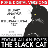"""an analysis of the literary elements in edgar allan poes the black cat """"the black cat"""" is one of edgar allan poe's most famous pieces it discusses the complexity of human nature regarding love and hate, as well as the narrow line between sanity and insanity."""