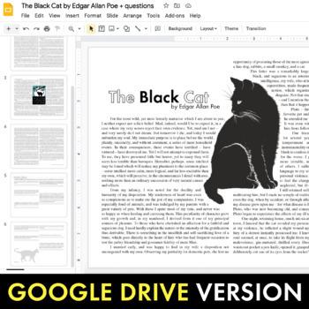 Black Cat, Edgar Allan Poe gothic short story w/non-fiction & multimedia,CCSS