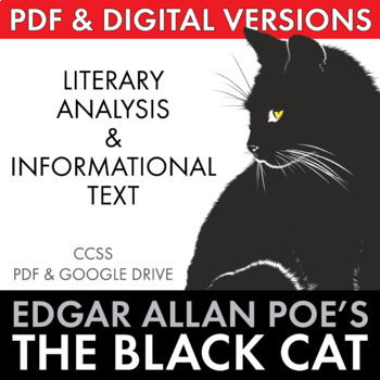 Black Cat, Edgar Allan Poe gothic short story w/non-fictio