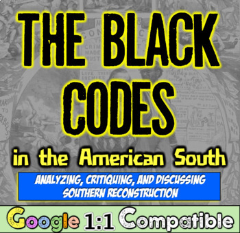 Black Codes in the American South: Analyzing Reconstruction, Primary Sources!