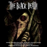 The Black Death Informational Article with Journal Activities