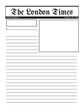 The Black Death Newspaper Activity