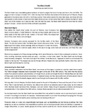The Black Death - Reading Comprehension Worksheet / Text