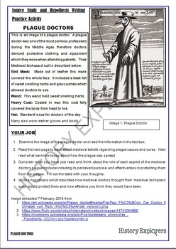 The Black Death.  Source Analysis and Hypothesis Writing Practice Activity
