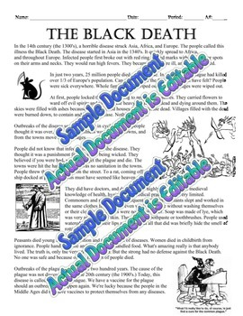 The Black Death Two Day Lesson Pack