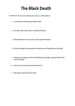 The Black Death Video Question Worksheet