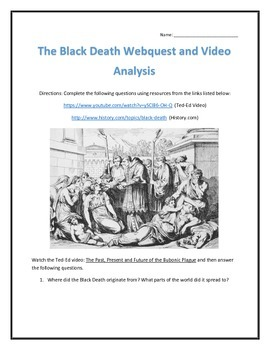 The Black Death Webquest and Video Analysis with Key