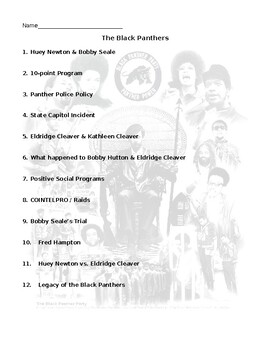 The Black Panthers Video and Activity