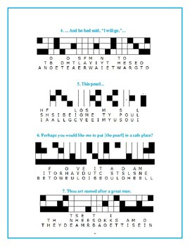 The Black Pearl: 10 Quotefall Puzzles—Students love these unique puzzles!