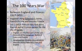 The Black Plague and the 100 Years War