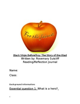 The Black Ships of Troy reading response/reflection journal