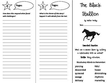 The Black Stallion Trifold - Journeys 5th Grade Unit 4 Week 5 (2014, 2017)