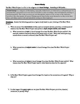The Blair Witch Project Film (1999) Study Guide Movie Packet