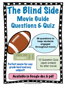 The Blind Side Movie Guide Questions with Quiz