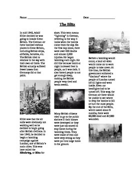 WWII: World War Two The Blitz