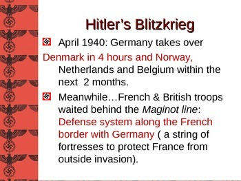 The Blitz PPT with Student Handout