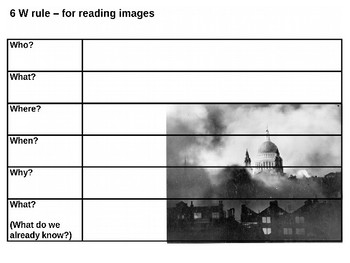 The Blitz Picture Puzzle and Source Analysis Activity