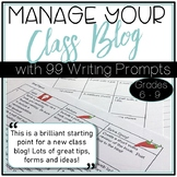 Managing a Class Blog with 99 Differentiated Post Prompts