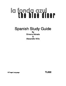 The Blue Diner-Spanish Study Guide