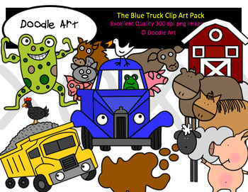 The Blue Truck Clipart Pack