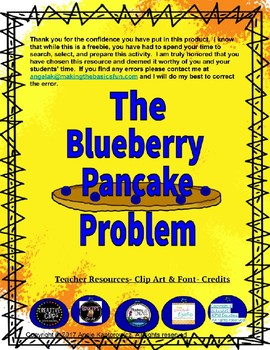 The Blueberry Pancake Problem Beginning Writer Template