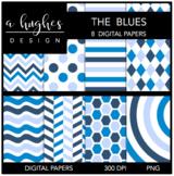 12x12 Digital Paper Set: The Blues {A Hughes Design}
