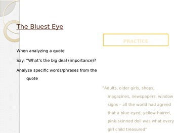 The Bluest Eye Lesson Plan pages 33-37