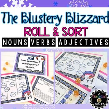 Winter Nouns, Verbs, & Adjectives - Winter Grammar Activity