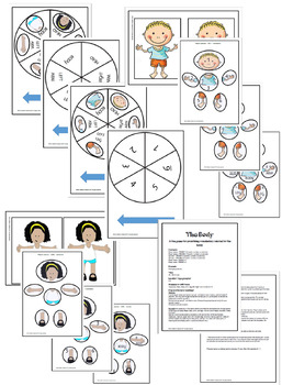 The Body -A printable game to practice reading and vocabulary