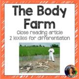 The Body Farm nonfiction reading