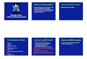 The Body Finder - Literary Graffiti - Clues to Theme - Common Core Assessment