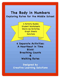 The Body In Numbers Unit Rates Activities Bundle for Middle School