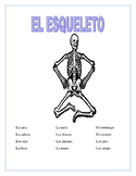 Distance Learning-El Cuerpo-Label Skeleton & Word Search/Puzzle- Body Parts