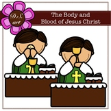 The Body and Blood of Jesus Christ Clipart (color and blac