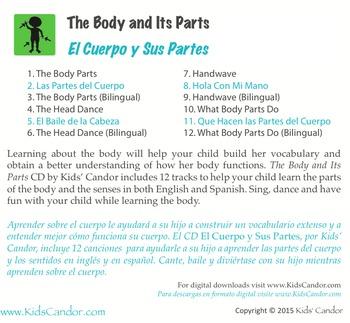 The Body and Its Parts | El Cuerpo y Sus Partes CD Bilingual Music