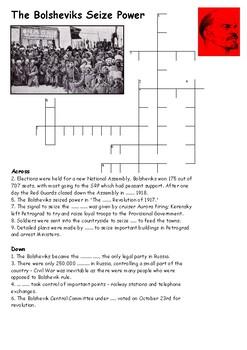The Bolsheviks Seize Power Crossword