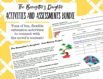 The Bonesetter's Daughter Activities and Assessments Bundle