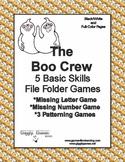 The Boo Crew Basic Skill File Folder Games
