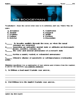 The Boogeyman by Stephen King Assignment