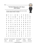 The Book Characters of Dr. Seuss Word Search (Grades 1-3)