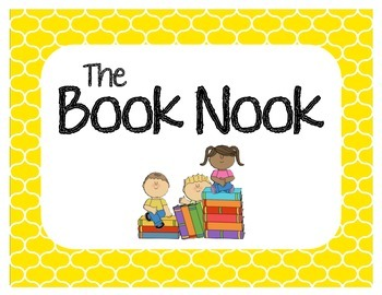 """The Book Nook"" Classroom Library Sign"